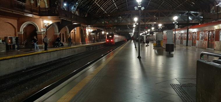 trem, estação, Luz, CPTM