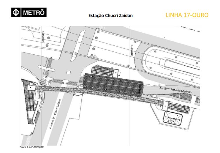 Projeto da Estação Chucri Zaidan